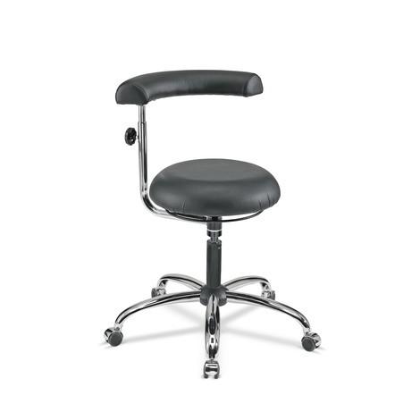 Sedia girevole da lavoro sgabello Comfort, sedile rotondo