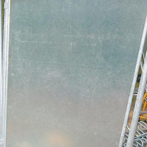 Seitenwand links oder rechts für Schrägdach-Überdachung zweiseitig