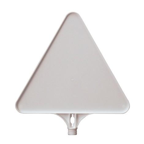 señal en blanco, triángulo