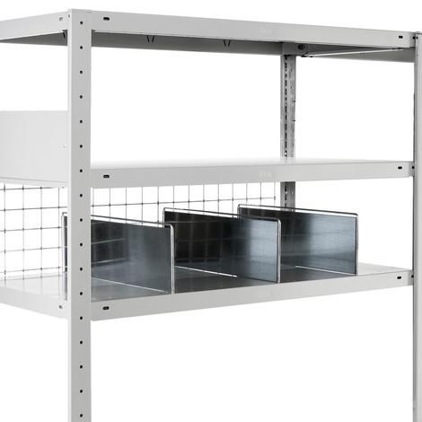 Separador de estante META con estribo de seguridad