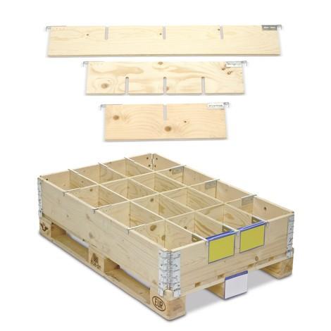 Separadores de marco de prolongación de madera
