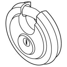 Serrure à disque pour Caisse à outils en tôle trapézoïdale