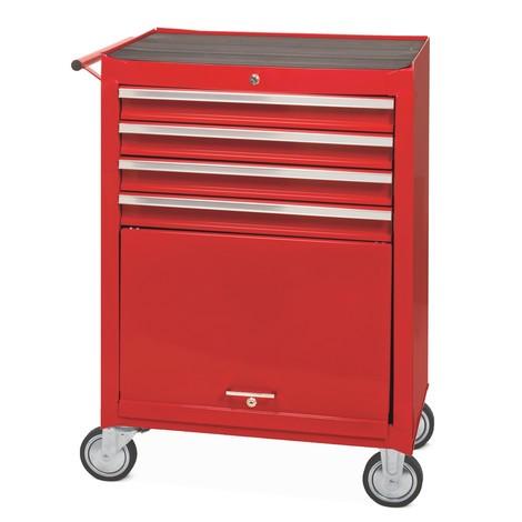 Servante d atelier, 4 petits tiroirs et un compartiment de rangement, 53 kg 866c13c7e5af