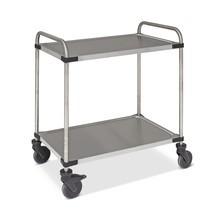 Serveerwagen Rieber® van roestvrij staal. Met 2 etages. Capaciteit tot 120 kg