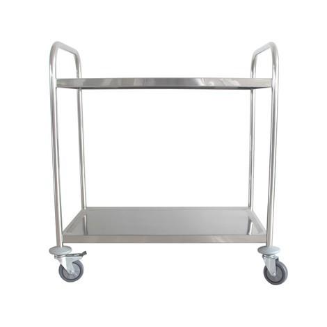 Serveringsvagn i rostfritt stål BASIC