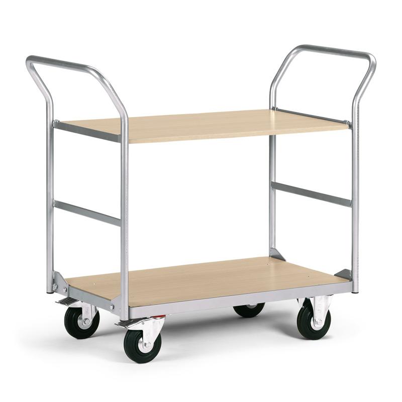 Service-Tischwagen mit 2 Holzböden. Tragkraft 200 kg