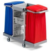 Servisný vozík Duo, 2 držiaky rámov pre 120 litrové vrecká