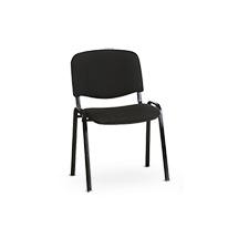 Set 8 Besucherstühle Nowy Styl, Gestell wahlweise schwarz pulverbeschichtet oder verchromt