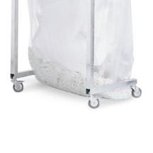 Set di ruote per contenitore per materiali riciclabili voluminosi