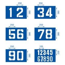 Set di stencil per marcatura del pavimento