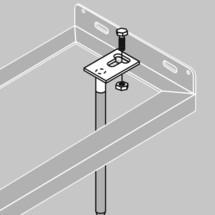 Set per ancoraggio a terra per portabiciclette a staffa, supporto e ad arco