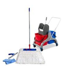 Set professionale del carrello per pulizie Steinbock®, secchio doppio