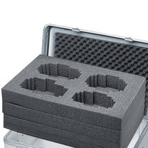Set schuimrubber blokken ZARGES voor aluminium transportkist eurobox