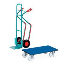 Set: Stapelkarre Ameise® mit Gleitkufen + 2 Stück VARIOfit® Transportroller Möbelhund®