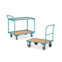 Set: Tischwagen Ameise® 250kg, 850x500mm + Magazinwagen Ameise® 200kg, 850x450 mm