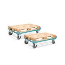 Set van 2 Palletonderwagens Ameise®, met verhoogde hoeken