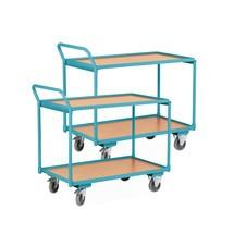 Set van 2 Tafelwagens Ameise®, 250 kg, omhoogstaande duwbeugel