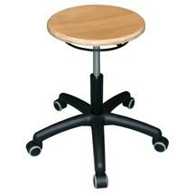 Sgabello Universal Plus, sedile in faggio