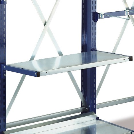 Shelf, galvanised, for META cantilever rack