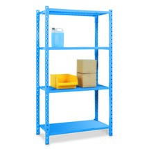 Shelf rack, base unit, with steel panels, shelf load up to 500 kg