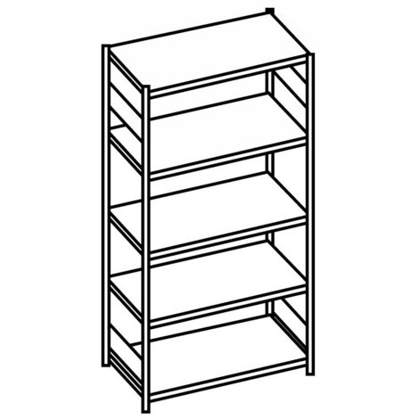 Shelf rack, base unit, with tubular steel shelves, shelf load up to 500 kg