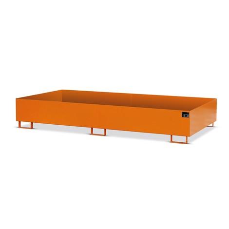 Shelf trough in steel