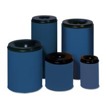 Sicherheits - Papierkörbe, enzianblau