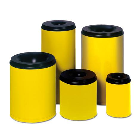 Sicherheits - Papierkörbe, gelb
