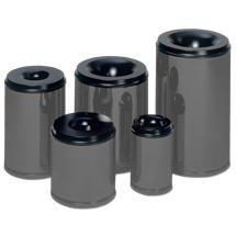 Sicherheits - Papierkörbe, grau