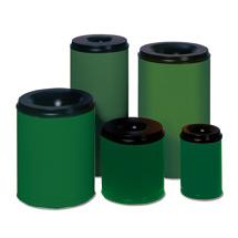 Sicherheits - Papierkörbe, grün
