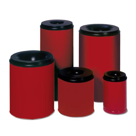 Sicherheits - Papierkörbe, rot