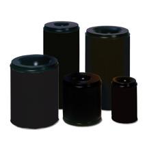 Sicherheits - Papierkörbe, schwarz