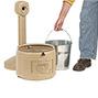 Sicherheits-Standascher aus Polyethylen. Verzinkter Inneneinsatz