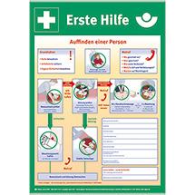 Sicherheitsaushang: Anleitung zur ersten Hilfe bei Unfällen