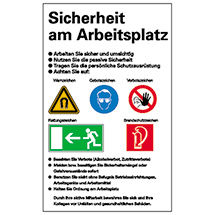Sicherheitsaushang: Sicherheit am Arbeitsplatz
