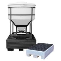 Sicherheitspalette für 30- bis 200-Liter-Fässer, PE-Natur oder schwarz