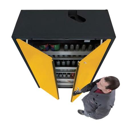 Sicherheitsschrank Asecos® Q-PEGASUS/Typ 90, 3 Fachböden, HxBxT 1.953 x 599 x 615 mm