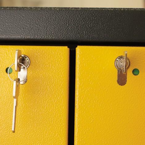 Sicherheitsschrank asecos® Q-PEGASUS/Typ 90, 6 Auszugswannen, HxBxT 1.953 x 599 x 615 mm