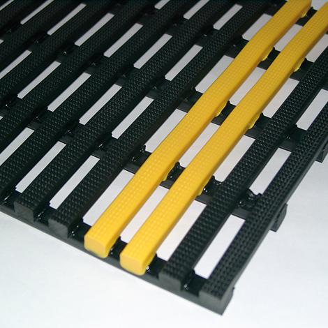 Sicherheitsstreifen für Vinyl-Gittermatten