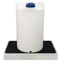 Sicherheitswanne für 30- bis 200-Liter-Fässer, PE-Natur oder schwarz