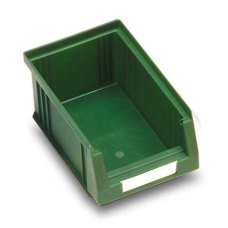 Sichtlagerkasten aus Polypropylen. Außenmaß 164 x 105 x 75 mm (LxBxH)