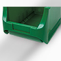 Sichtlagerkasten aus Polypropylen. Außenmaß 500 x 310 x 200 mm (LxBxH)
