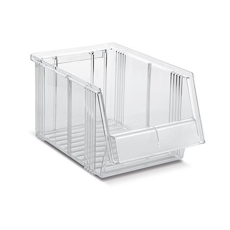 Sichtlagerkasten aus Polystyrol, transparent