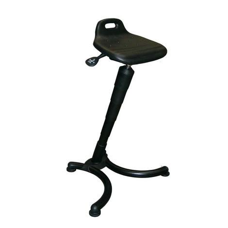Siège assis-debout avec assise en PU, dossier court