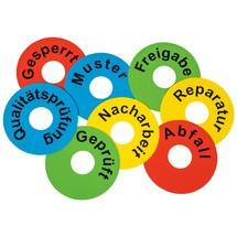 Signální kroužky pro příchozí zboží a kontrola kvality