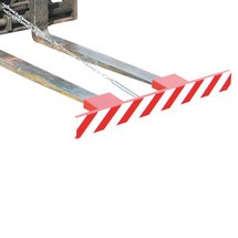 Sikkerhedsskilt til gaffeltruckens gafler