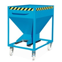 Silo kontejnery, pro jemnozrnné sypké materiály, lakované, objem 0,6 m³