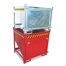 Silobehälter mit Klappe, Tragkraft 1000 kg, Volumen 0,75 m³, lackiert