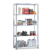 Sistema de aparafusamento para estanteria para picking META, módulo básico, carga de 230 kg por prateleira, cinza-claro
