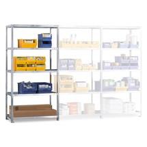 Sistema de aparafusamento para estanteria para picking META, módulo de montagem, carga de 80 kg por prateleira, galvanizado